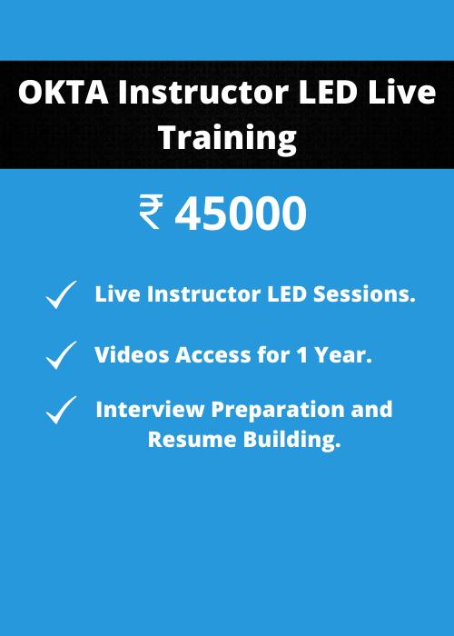 OKTA Instructor LED Training price